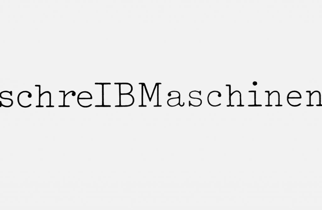 Großflächenplakat für die Schreibmaschinen von IBM, 1977